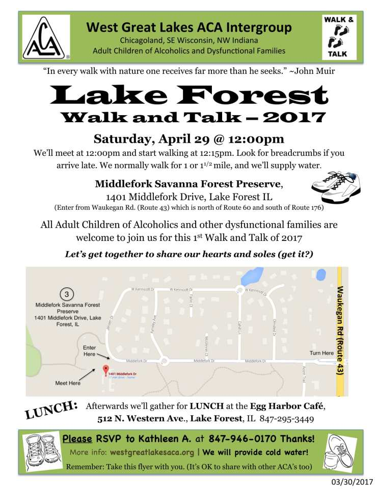 Lake Forest ACA Walk and Talk Info