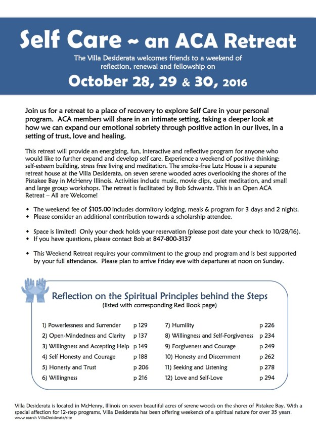 Self Care Retreat October 2016