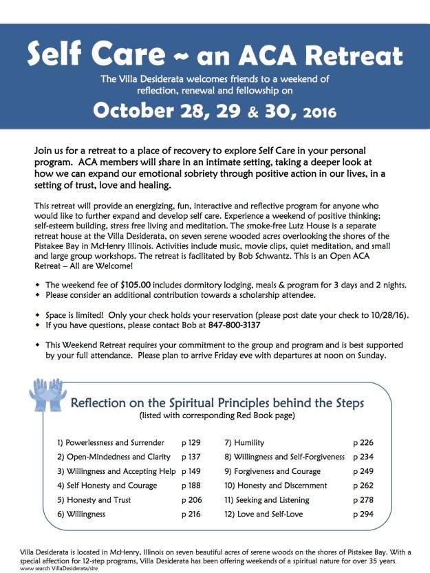 Self Care Retreat October 2016