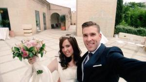 Congratulations Adrian- West Ham goalkeeper gets married to fiancee- June 13, 2015