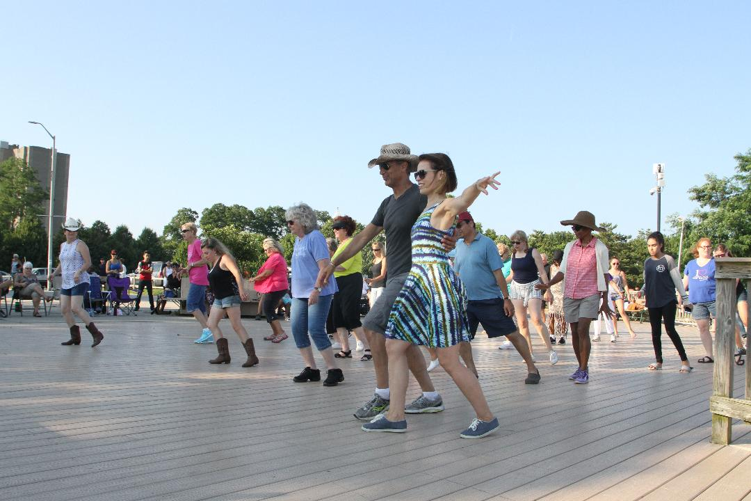 Cutting a rug on the shore!