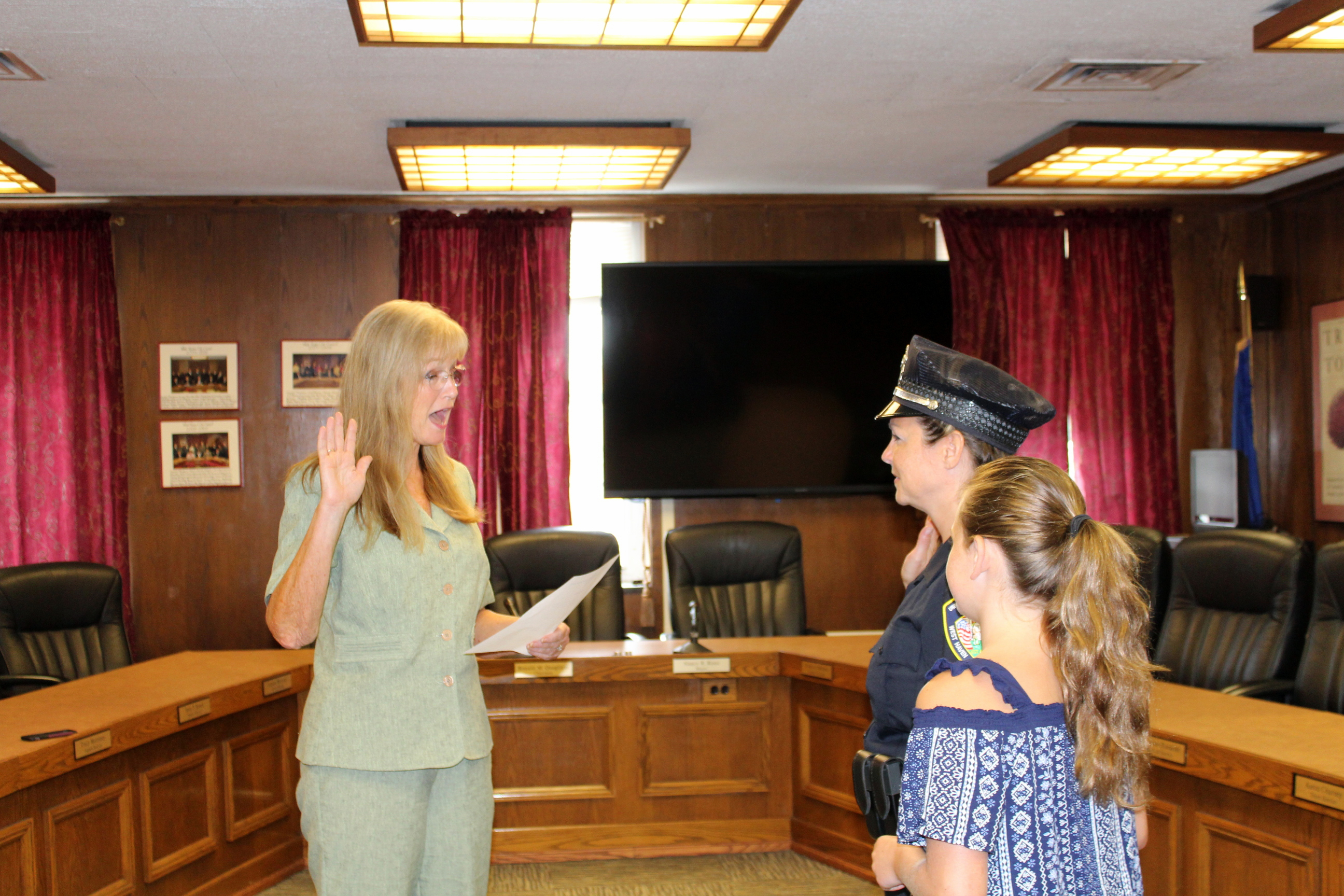 New UNH officer takes oath