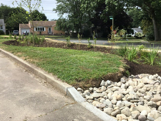 Rain garden installed at Pagels