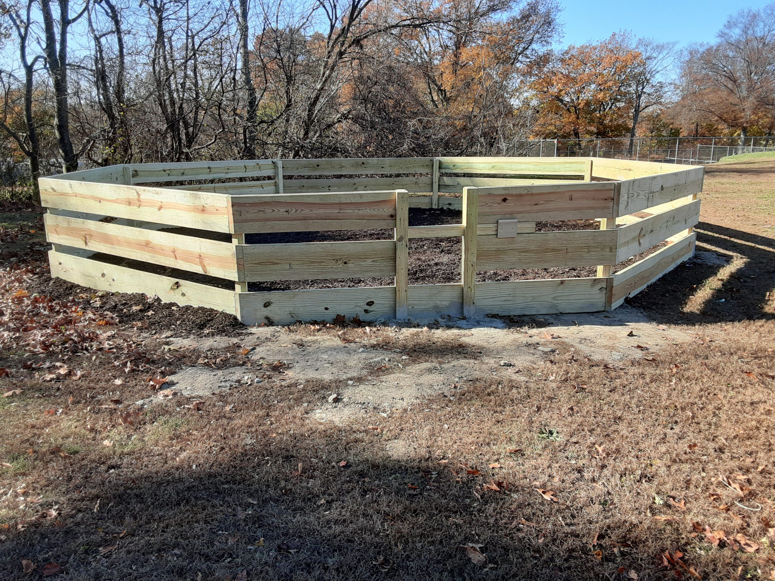 Lowe's employees build a 'gaga' pit