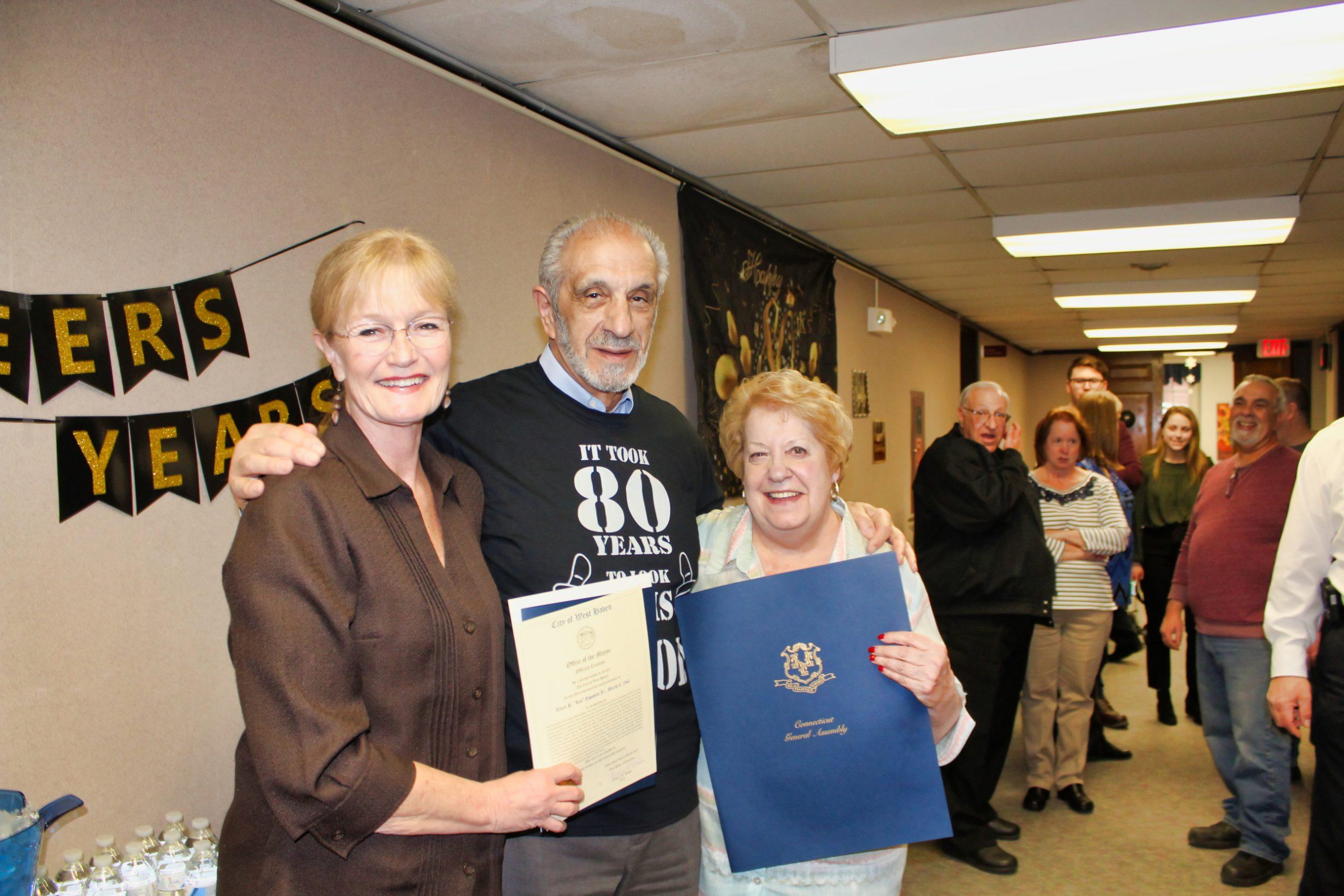 'Surprise' celebration marks Esposito's 80th birthday