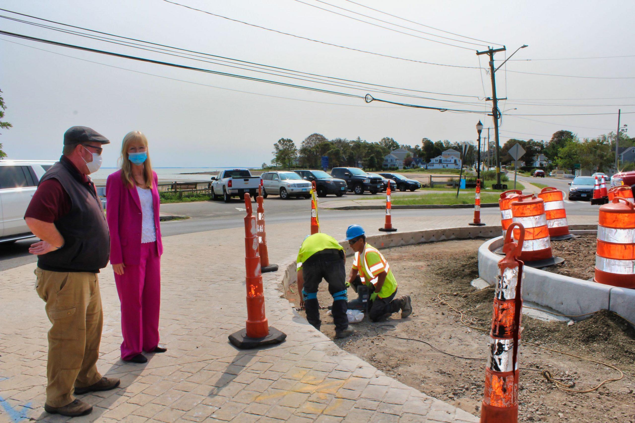 Roundabout widened