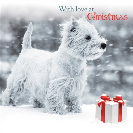 Snowy Westie Christmas Cards West Highland Terrier