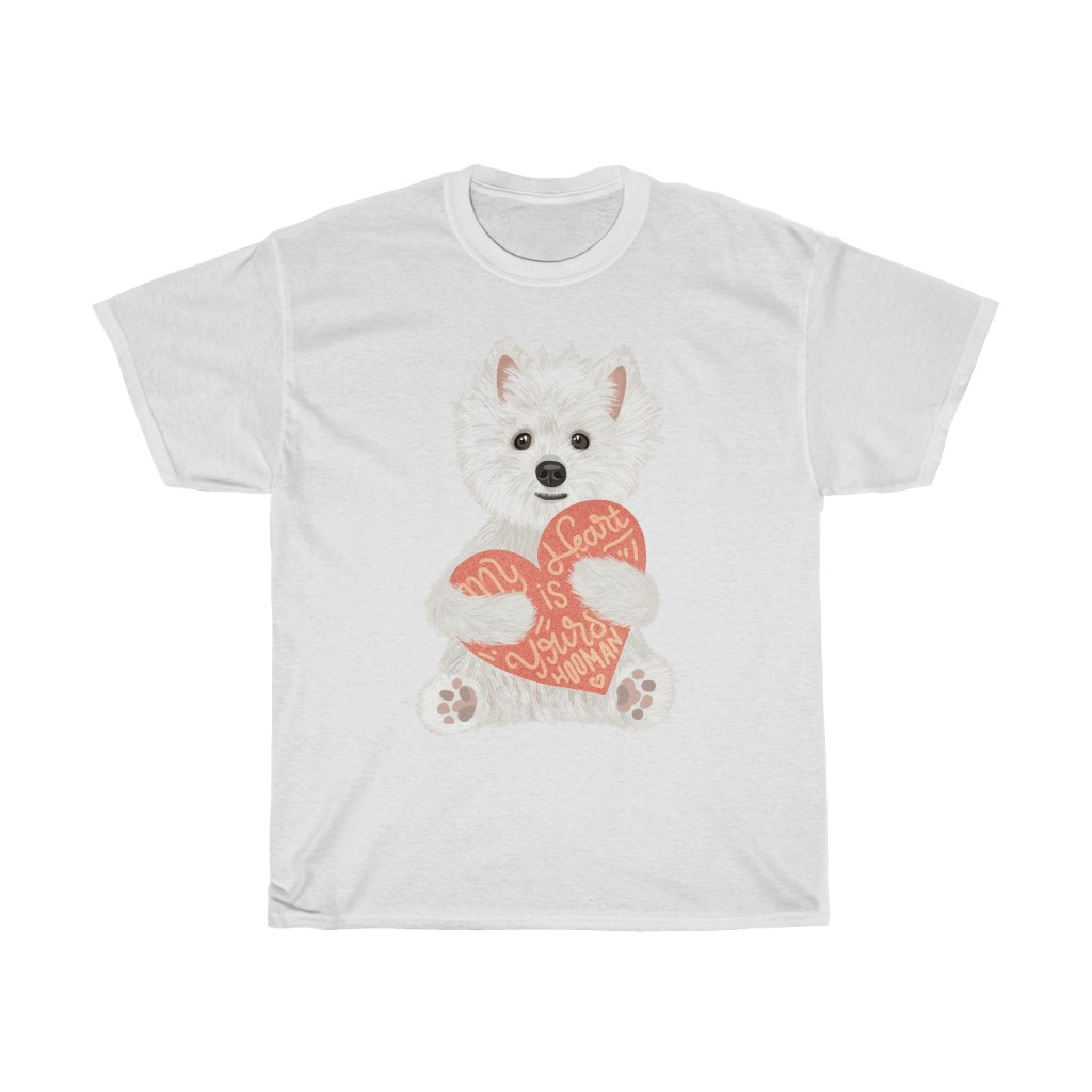 5 Perfect Gifts for Westie Lovers in 2021 - Westie Heart White T-shirt