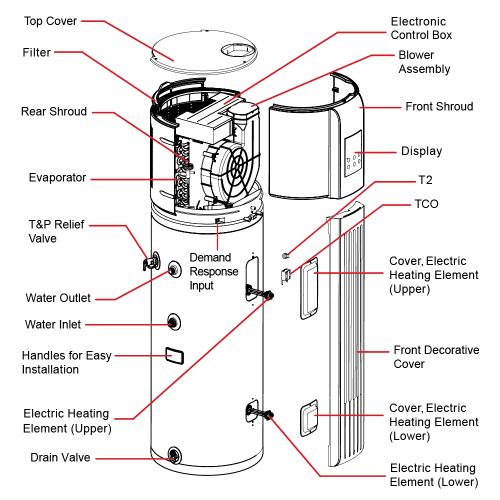 small resolution of parts for westinghouse electric heat pump water heater