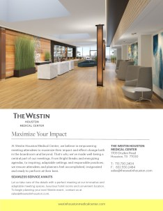 Westin Houston Hotel Conference Meeting Space Brochure