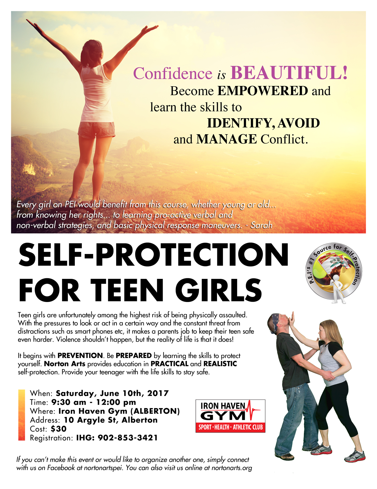 Self Protection Empowerment For Teen Girls Westisle