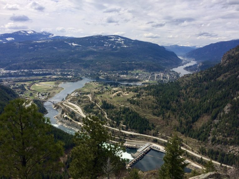 Overlook towards Castlegar and Lower Arrow Lake