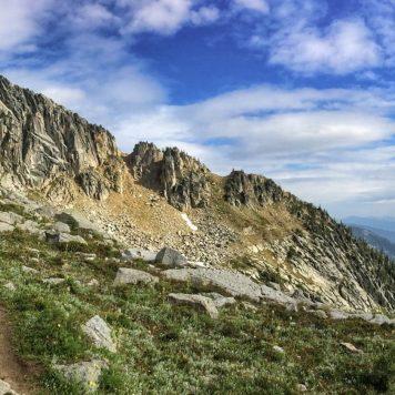 Ridgeline descending from Esmerelda Peak