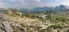 Looking back over Lemon Pass