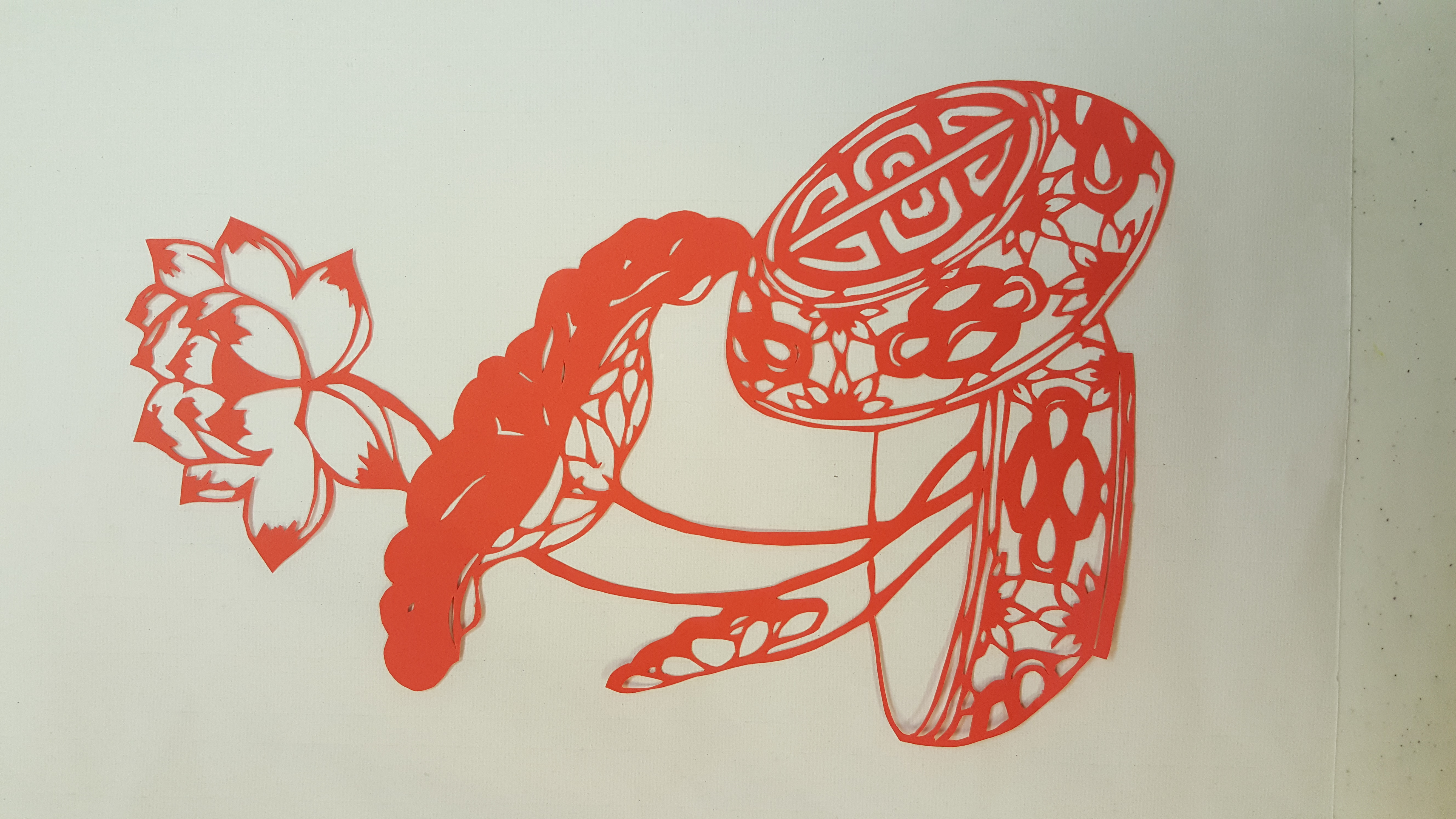 Chinese Paper Cutting Student's work
