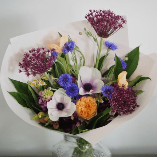 Spring Anemone Allium Poppy Medium Bouquet