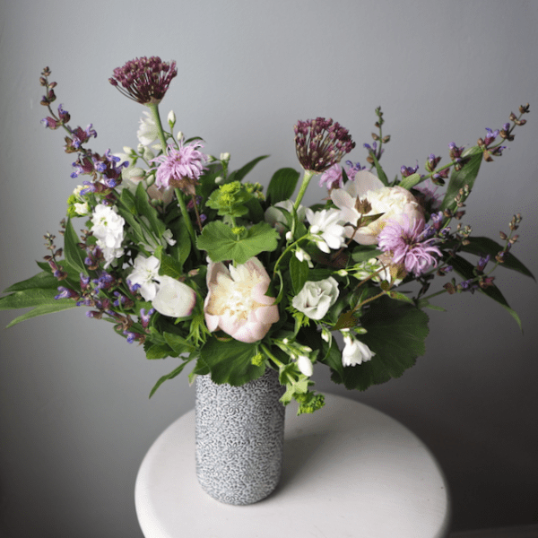 Purple Pink White Spring Larger Arrangement