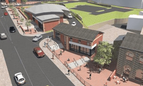 Artist's impression of the planned Armley supermarket development dating back to 2011