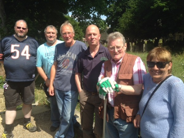 A team of volunteers is uncovering war graves in Bramley Baptist Church