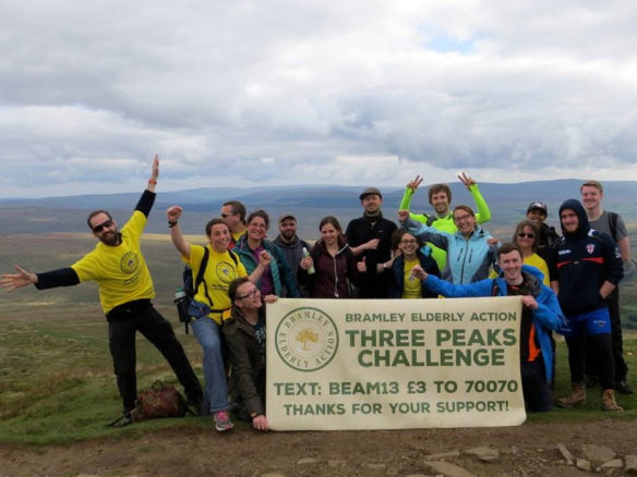 Bramley Elderly Action three peaks fundraiser