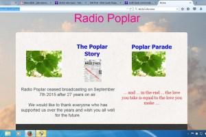 Radio Poplar community radio closed