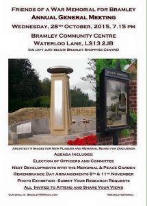 Bramley war memorial AGM