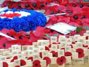 Poppies at Bramley War memorial