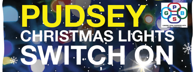 Pudsey Christmas Lights switch on