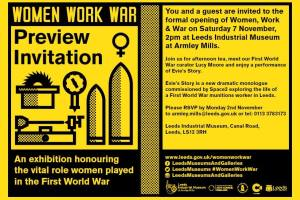 Women Work and War exhibition