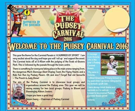 pudsey carnival 2016