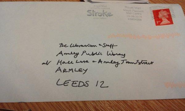 The address on the front of Mr Bennett's postcard. Photo: Matthew Stoppard