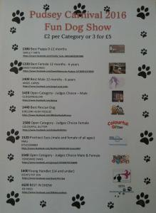 pudsey carnival 2016 dogshow