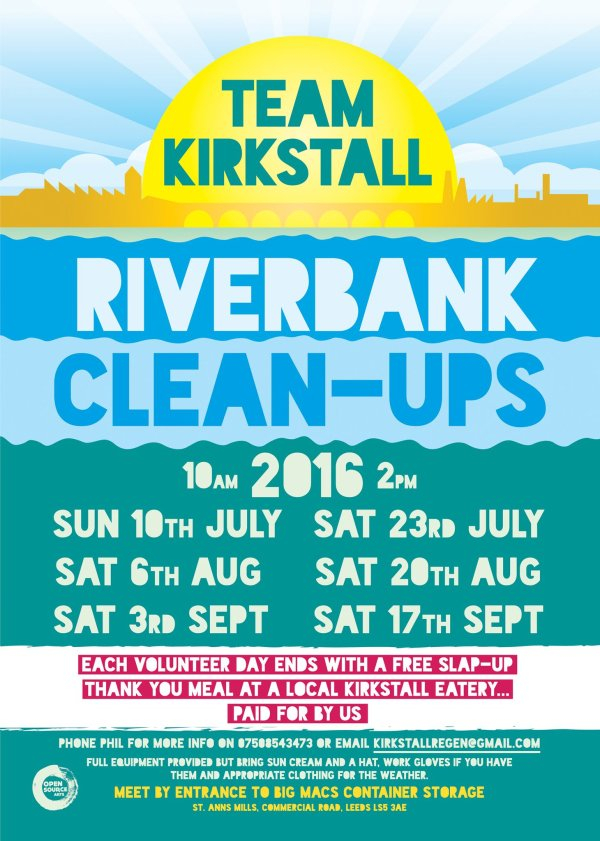 team kirkstall riverbank cleanup