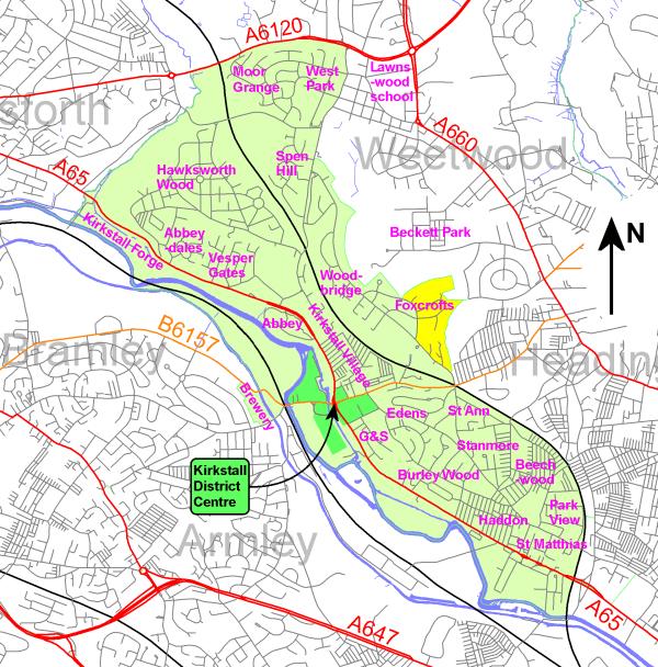 Kirkstall Ward Boundary
