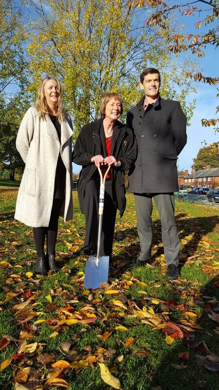 Councillors Jools Heselwood, Caroline Gruen and Kevin Ritchie (Labour, Bramley and Stanningley) welcome that work has started to create 22 new Council homes at Broadlea Street in Bramley.