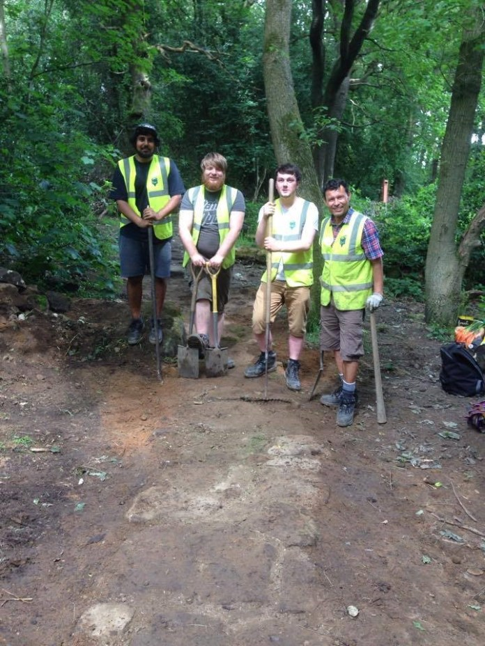 Hollybush: West Leeds volunteers involved in woodland project