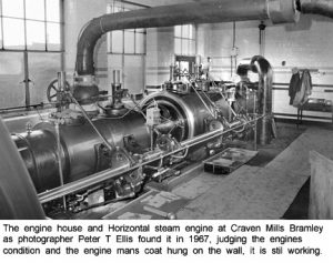 1967 image of Horizonttal steam engine