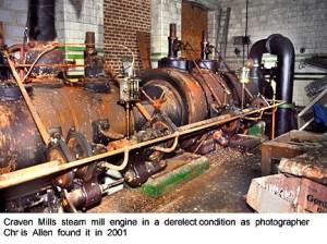Craven Mill steam engine in 2001