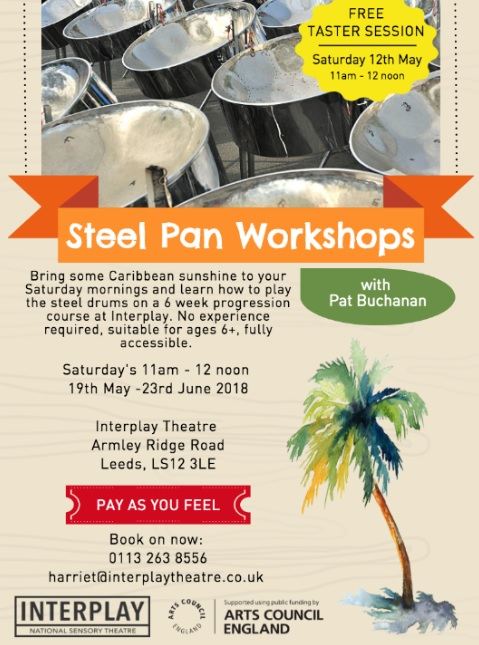 Learn the steel drums the Caribbean way at Armley's Interplay