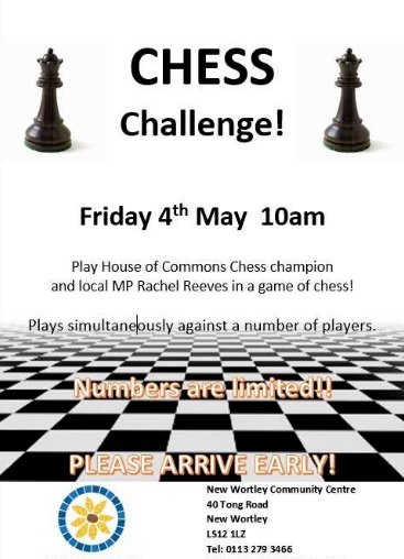 New Wortley Community Centre hosts MP chess challenge