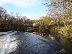 Newlay bridge and weir