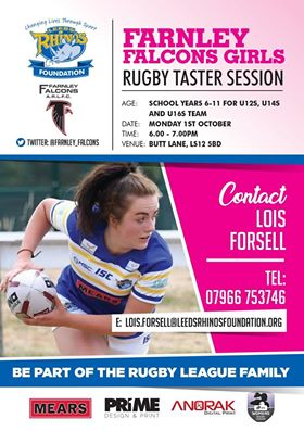 farnley falcons girls sessions
