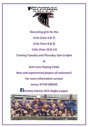 farnley falcons training