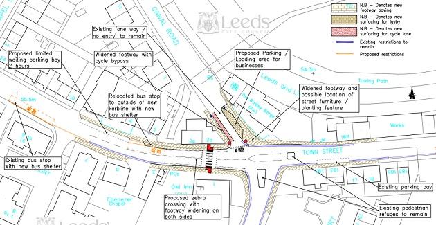 Rodley Town Street set for £150,000 revamp