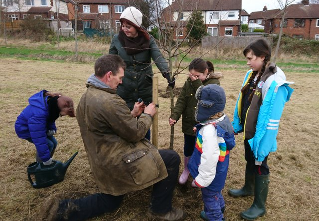 Guides and Brownies plant community orchard