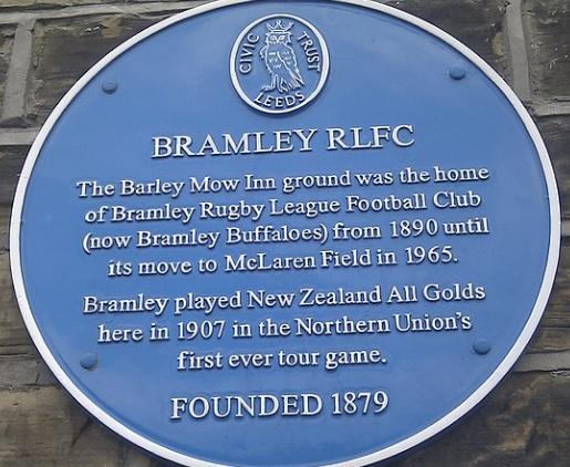 cBramley RLFC barley mow plaque