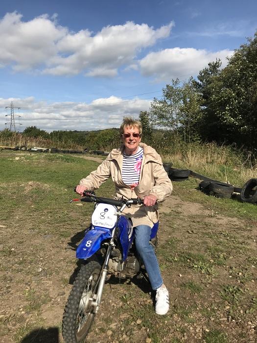 caroline gruen motorbike