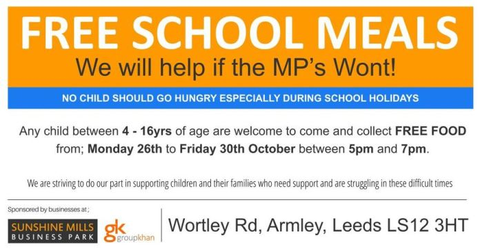 childrens meals armley