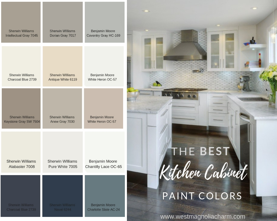 Best Kitchen Cabinet Paint Colors Popular Kitchen Cabinet Paint Colors - West Magnolia Charm