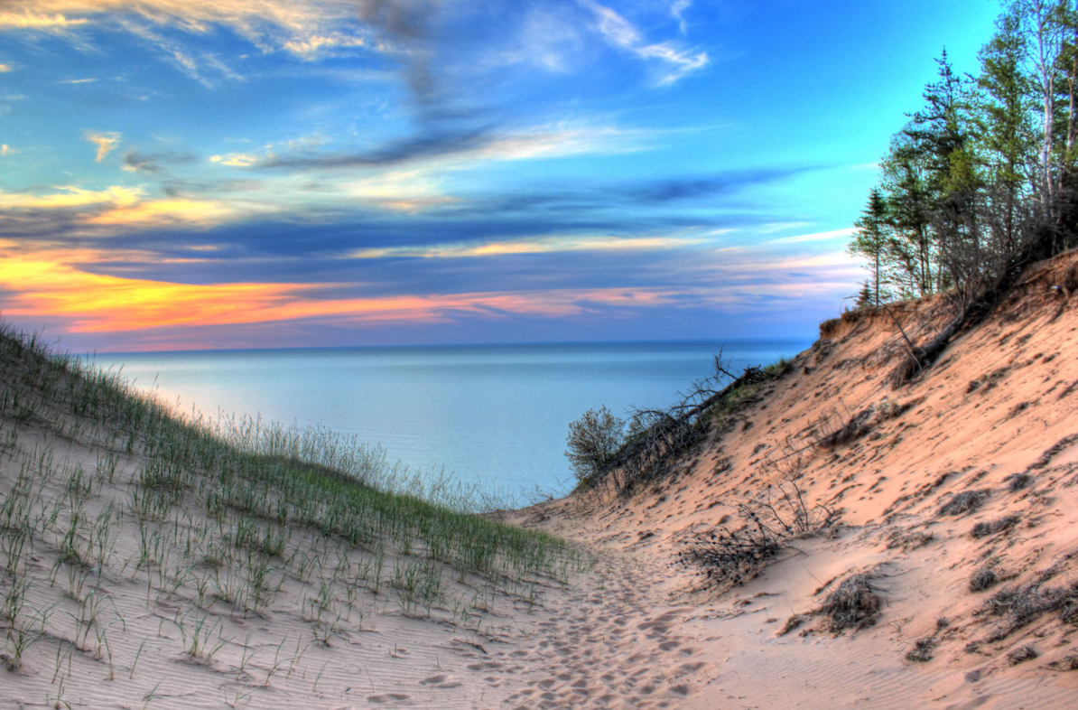 Lake Michigan Sunet